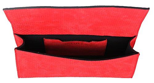Escarpins ouverts fAME f0013 à main/pochette pour femme rouge