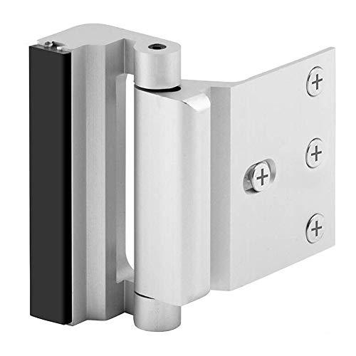 Home Security Door Lock with 8 Screws, Childproof Door Reinforcement Lock with 3″ Stop Withstand 800 lbs for Inward Swinging Door,Upgrade Night Lock to Defend Your Home