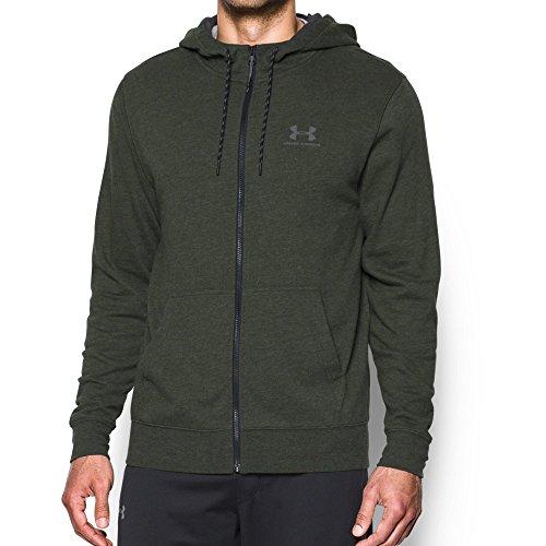 Under Armour Men's Sportstyle Fleece Zip Hoodie, Artillery Green/Asphalt Heather, Medium