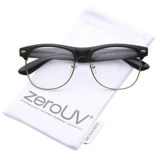 3853a1419f47 zeroUV Classic Rimmed Clear Glasses