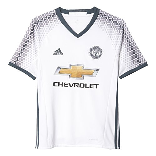 Adidas Youth Manchester United Soccer Jersey White 3rd Kit MSRP $70 (XL)