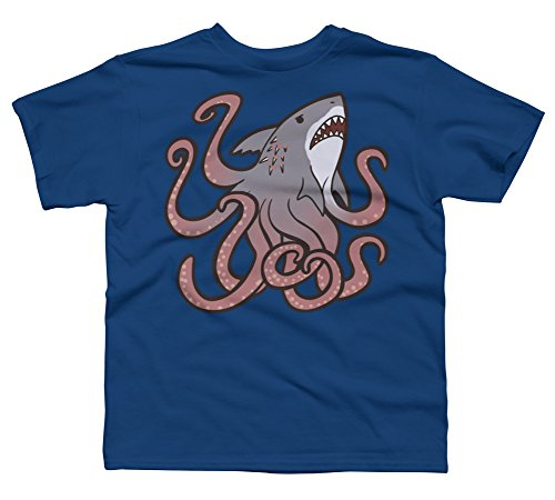 Design By Humans Sharktopus Boy's Small Royal Youth Graphic T Shirt for $<!--$20.00-->