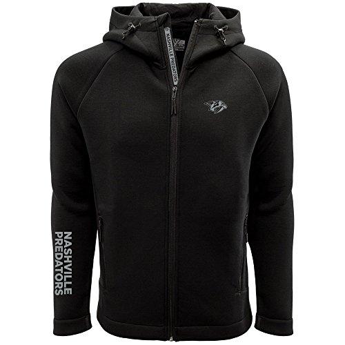 (Levelwear LEY9R NHL Nashville Predators Adult Men Titan Insignia Bold Full Zip Hooded Jacket, X-Large,)