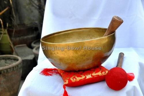 7 Metal Singing Bowl with Cushion and Mallet