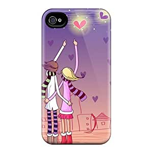 Fashion AUmADiA2257kWOkX Case Cover For Iphone 4/4s(love Ji Mi Illustration)