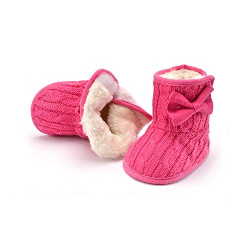 Just Easy Gateo Guantes Invierno lazo Plus terciopelo Guantes Boots blanco rojo Talla:13 cm Watermelonrot