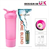 Cheap Protein Shaker Bottle, USB Bottle Blender, Protein Powder Shaker Bottle with Charging Function,100% Leak Proof, BPA Free Shaker Bottle for Protein Mixes,Coffee,Milk,Oatmeal Porridge,Dressings (Pink)