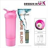 Cheap Protein Shaker Bottle, USB Bottle Blender, Protein Powder Shaker Bottle with Charging Function,100% Leak Proof, BPA Free Shaker Bottle for Protein Mixes,Coffee,Milk,Oatmeal Porridge,Dressings (Pink)