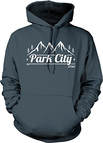 NOFO Clothing Co Park City, Utah Hooded Sweatshirt, M Char