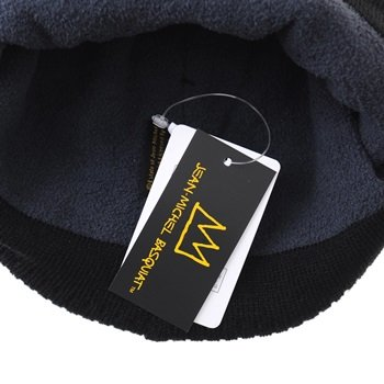 WITHMOONS Crown Beanie Hat Gorros Knitted Jean Punto Slouchy Basquiat CR5826 Negro Michel de HqrSHxwnv
