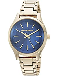 Women's Janelle Quartz Watch with Stainless-Steel Strap, Gold, 0.6 (Model: KL1628)