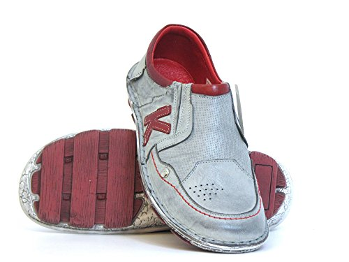 Mujeres Zapatos llanos gris, (weiß-kombi) 2233-3 weiß-kombi