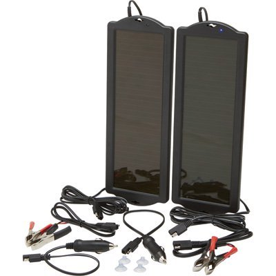 Ironton Solar Panel Twin Pack - Two 12 Volt Amorphous Solar Panels, 1.5 Watt Output