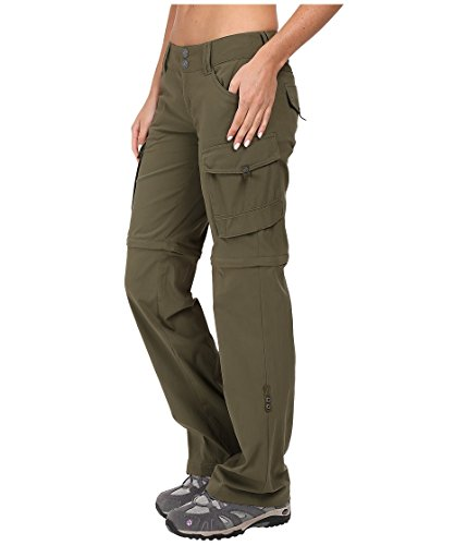 PrAna Women's Sage Convertible Regular Inseam Pants, Cargo Green, Size 12