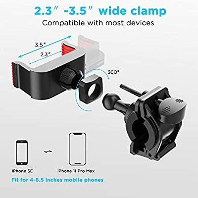Bike Mount, IPOW Universal Cell Phone Bicycle Rack Handlebar & Motorcycle Holder Cradle Compatible with iPhone 11 Pro Max/X/XR/XS MAX/8/7 Plus,Samsung Galaxy S10/S10e/S9, Nexus,HTC,LG,BlackBerry: Automotive