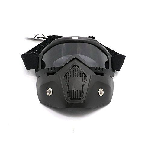 - Alpha Rider Motocross Motorcycle Off-road Racing Goggles Face Cover Mask Open Face Helmet for Honda Kawasaki Suzuki Yamaha KTM Husqvarna Sinnis Black