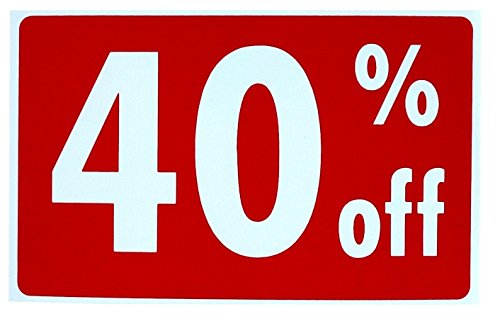 e Sale 40% Percent Off Sign Store Declare Discount Plastic Cards Outdoor Banners Clearance Price Real Estate Signs Homes Land Decals Window Vinyl Retail Banner Yard Size 7