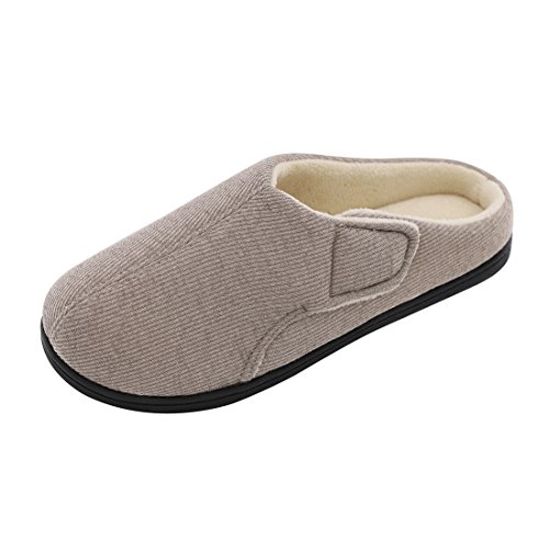 Memory Gray Gluing Cloth Foam Slippers Comfort Women's ULTRAIDEAS Terry Thread Slippers House Adjustable Nylon with 1qx6qOEw