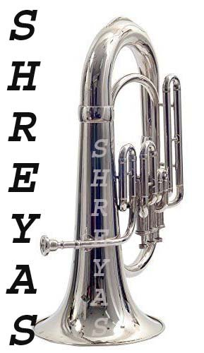 Shreyas Chrome Plated Intermediate Euphonium with Hardcase and Mouthpiece