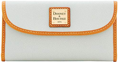 Dooney & Bourke Women's Leather Collins Continental Clutch Wallet Ice Blue