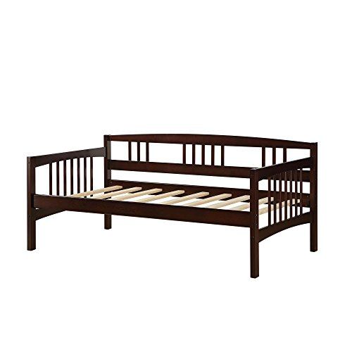 Dorel Living Kayden Daybed Solid Wood, Twin, Espresso (Room Twin In Bed Living)