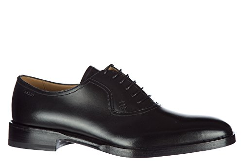 Bally Heren Klassiek Leer Veterschoen Veter Formele Schoenen Nefio Oxford Zwart