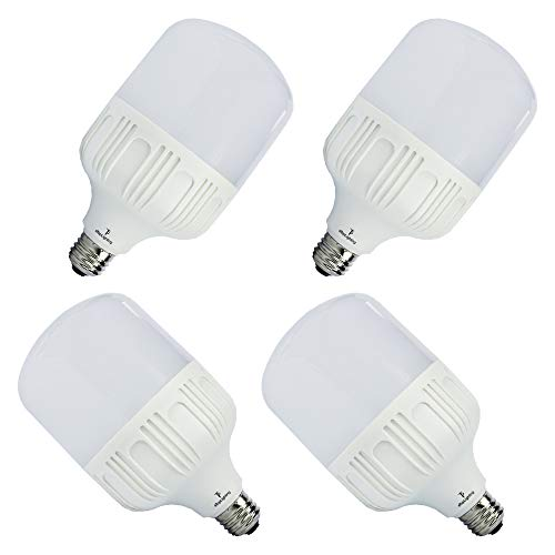 (ETOPLIGHTING [4-Pack] Shatter-Proof 30W LED Light Bulb with 15000 Life Hours, Edison E26/E27 Base, Garages, Work Sites, Home, Photo Studio, APL1485, Daylight White 6000K)