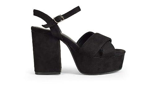f8dbfde0 Sandalia Ante PU 37057 Lina Negro 37: Amazon.es: Zapatos y complementos