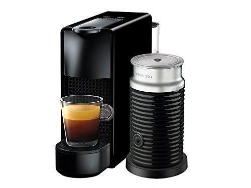 Cafetera Nespresso Essenza Mini con Espumador de leche, Color Negra (Incluye obsequio de 14 cápsulas de café)