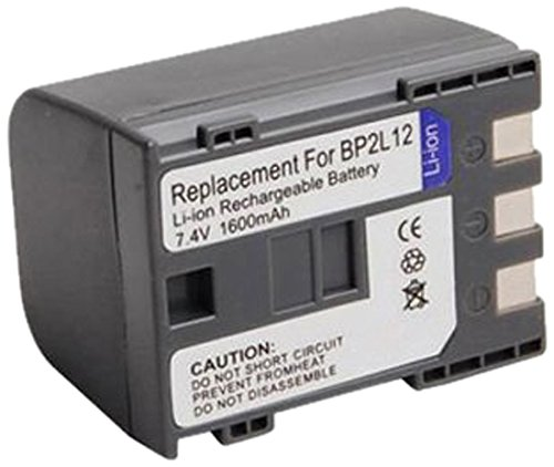 Amsahr S-BP2L12 Digital Replacement Battery Plus Travel Charger for Canon BP-2L12, NB-2L14 (Gray) (2l14 Replacement Nb)