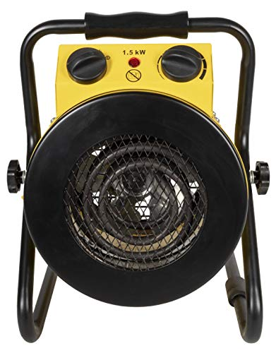Royal Sovereign Electric Fan Heater Black/yellow HUT-100