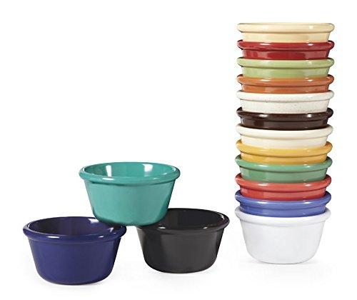 G.E.T. Enterprises Mix Pack of 4 Mardi Gras Colors 4 oz. Ramekin, Break Resistant Dishwasher Safe Melamine Plastic, Ramekins Collection RM-400-MIX (Pack of 12) ()