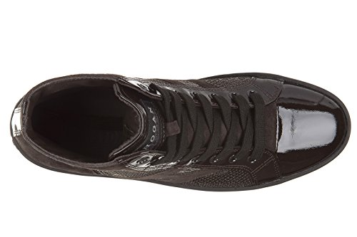 Hogan Rebel chaussures baskets sneakers hautes femme en daim rebel r141 polacco