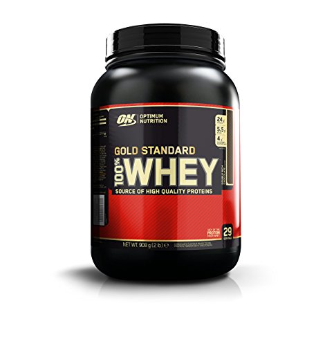 Optimum Nutrition Gold Standard Whey Protein Powder with Glutamine and Amino Acids Protein Shake by ON - Double Rich Chocolate, 29 Servings, 908 g