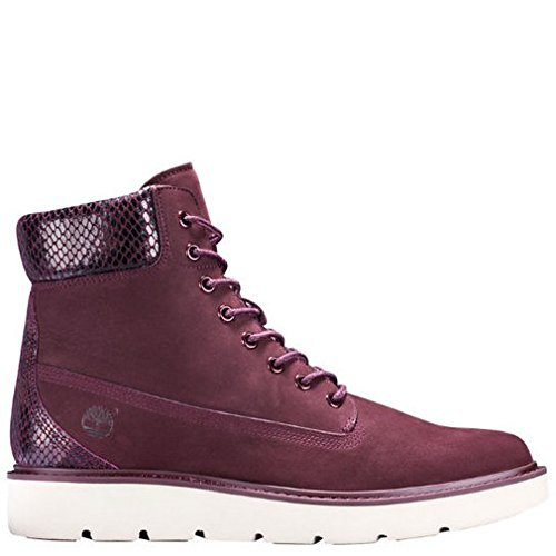Timberland Womens Kensington 6-Inch Lace-Up Boot Dark Red Nubuck Size 9.5
