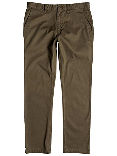 Dc Shoes Worker Straight Fit Chino 32 Pantalones, Color: Taupe, Size: 33