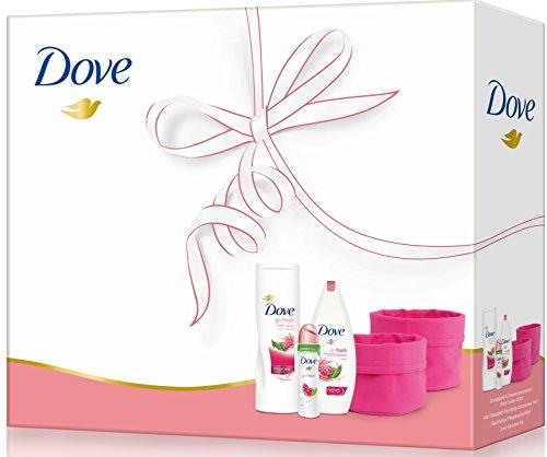 Dove Women Geschenkpack: Duschgel, Bodylotion, Deospray und Körbchenset
