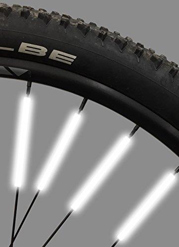 Bike Spoke Reflector Jusmar Pack of 36 – Bike Reflectors for Mountain and Road Bikes – Kids Bike Reflector – Waterproof Bicycle Spoke Reflectors