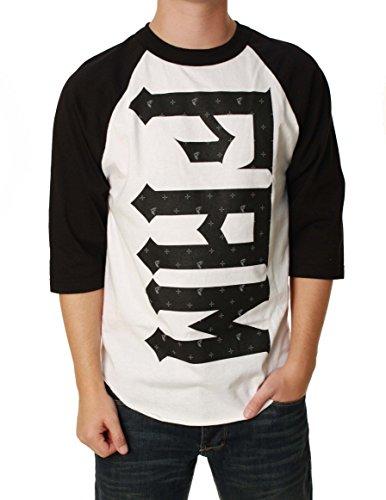 Famous Stars & Straps Famous Alpine T-Shirt - Long-Sleeve - Men's White/Black, XL