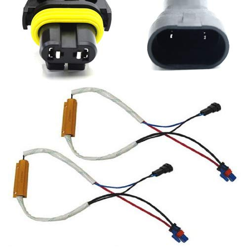 iJDMTOY Plug-N-Play Error Free Decoder Wiring Kit For 9005 or 9006 LED Bulbs on Fog Lights or Daytime Running Lights ()