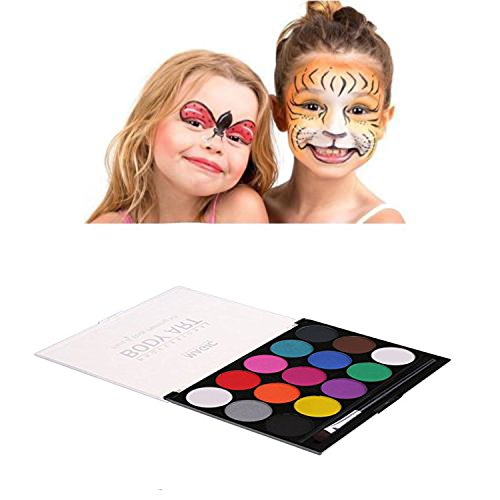 Face Paint Kit Xpassion Non-Toxic Kids Safe Body Paint Set 15Colors with 1piece artist brush for Halloween Party (Halloween Themed Teaching Ideas)