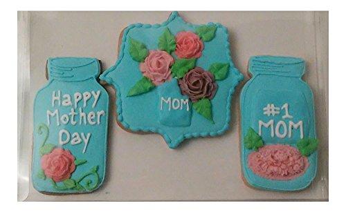 Gift Box! Mason Jar Flowers Vase -Royal Icing Sugar Cookies ()
