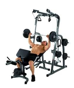 Hammer - Banco Sólido XP ajustable de pesas, con pesas 76kg, color gris / negro