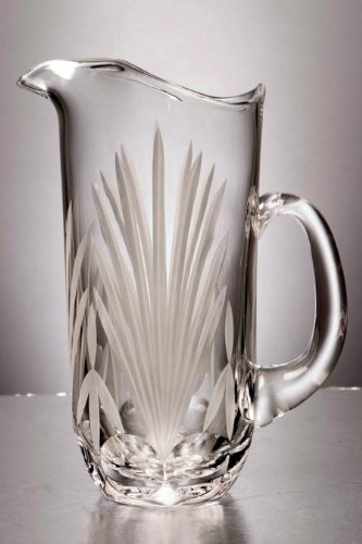 Gac Elegant Mouth Blown Crystal Water Pitcher With Spout