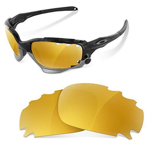Sunglasses Restorer Polarized Gold 24K Replacement Lenses for Oakley Jawbone - Restorer Sunglasses