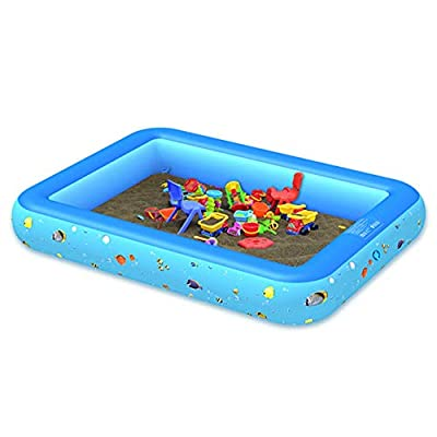 QCUTEP Inflatable Swimming Pool, Inflatable Kiddie Pools, Blow Up Family Pool Swim Center for Kids Adults Babies Toddlers 150CM: Garden & Outdoor