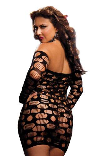 Seven Til Midnight Women's Plus Size Flirtatious Long Sleeve Dress