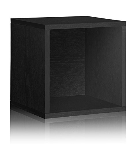Vinyl Record Storage Cube Extra Large Stackable LP Record Album Shelf, (Basic Side Load Stackable)