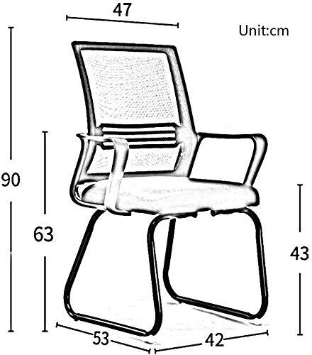 DBL Modernt utseende konsol struktur konferensbord kroppstyp radian kontor miljö mottagningsrum skrivbordsstolar (färg: Grå, storlek: Svart ram)
