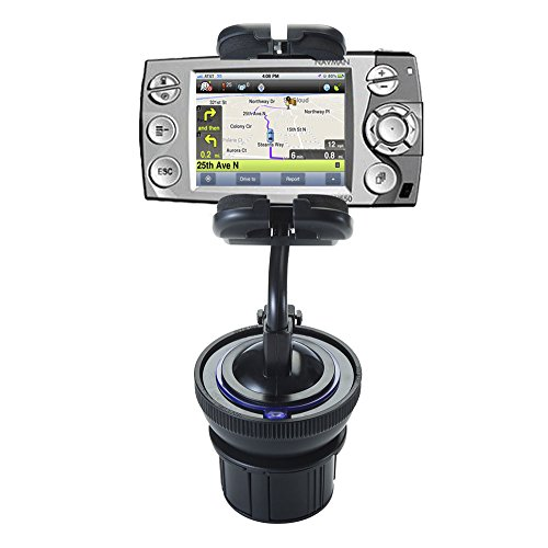 Dual Purpose Adjustable Auto Cupholder Mount and Flexible Windshield Suction Mount for Navman iCN 550 Keep Devices Secure in Any Car or Truck